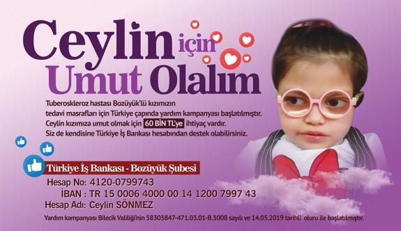 CEYLİN'E UMUT OLALIM