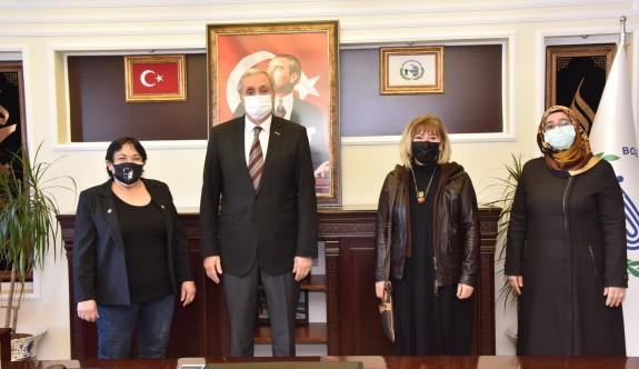 İYİ PARTİ'DEN BAKKALCIOĞLU'NA ZİYARET