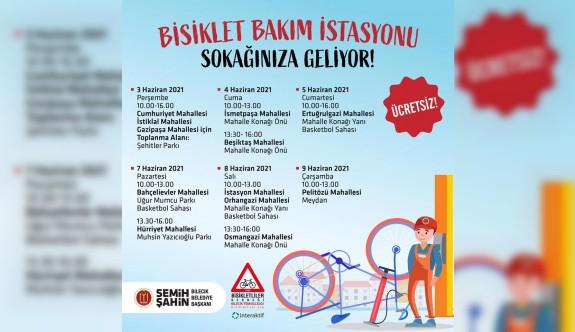 ''BİSİKLET BAKIM İSTASYONU'' SOKAĞINIZA GELİYOR