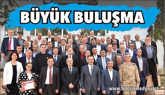 İL PROTOKOLÜ MUHTARLARLA BİR ARAYA GELDİ