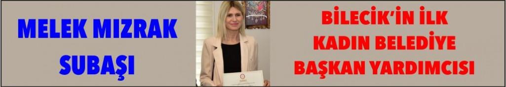 BİLECİK'İN İLK KADIN BAŞKAN YARDIMCISI, MELEK MIZRAK SUBAŞI