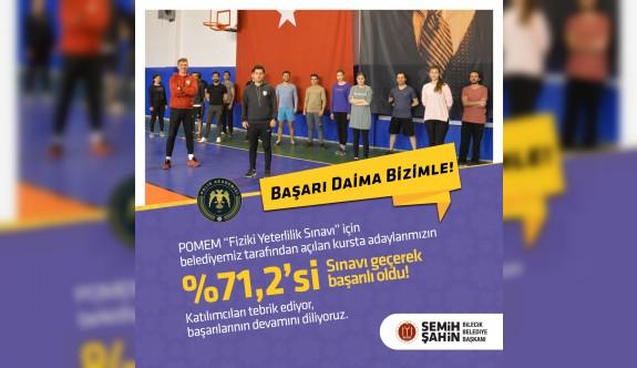 KURSLAR İLE YÜZDE 71.2 BAŞARI ELDE EDİLDİ