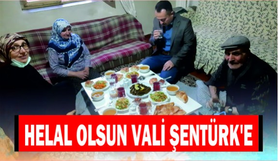 HELAL OLSUN VALİ ŞENTÜRK'E